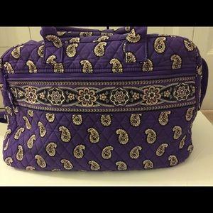 Vera Bradley purple paisley weekender bag.
